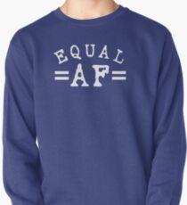EQUAL AF white Pullover Sweatshirt