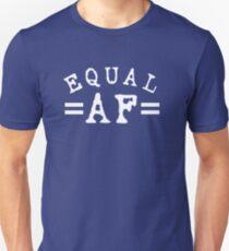 EQUAL AF white Slim Fit T-Shirt