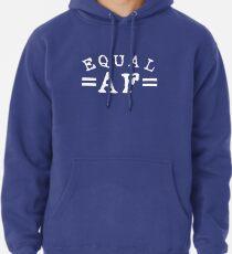 EQUAL AF white Pullover Hoodie