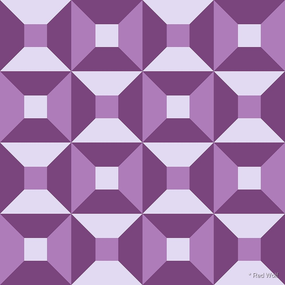 Geometric Pattern: Square Check: Purple by * Red Wolf