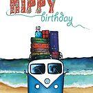 Hippy birthday card by Jenny Wood