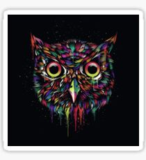 Owl Paint Drip Sticker