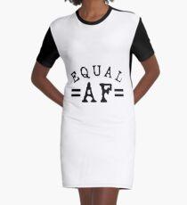 EQUAL AF black Graphic T-Shirt Dress