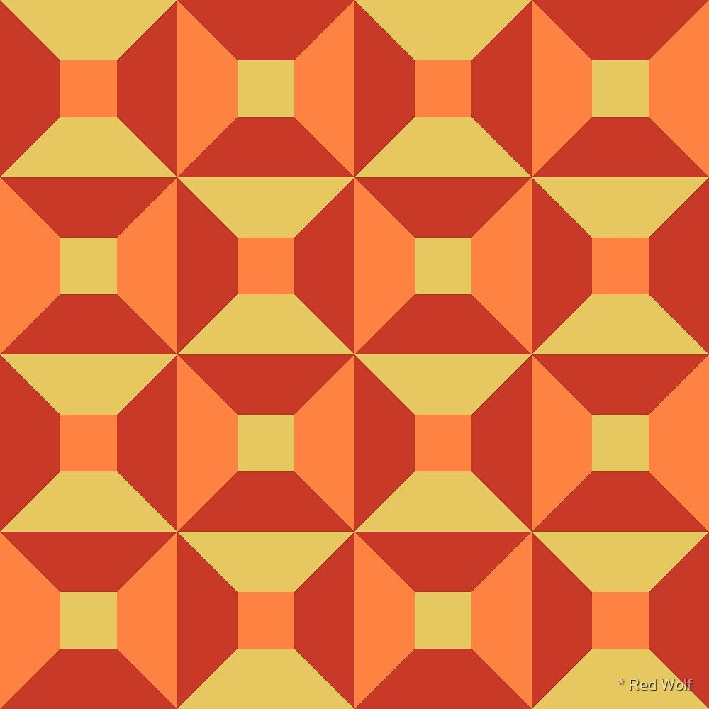 Geometric Pattern: Square Check: Summer by * Red Wolf