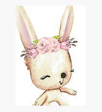 Happy Bunny Photographic Print