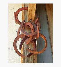 Old Horse Shoes Photographic Print