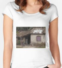 Everyday Life In Las Flores - 2 ©  Women's Fitted Scoop T-Shirt