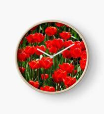 Red tulips Clock