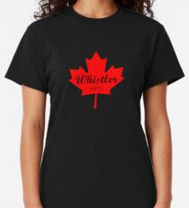 Whistler Canada 1975 Red Maple Leaf Color Classic T-Shirt