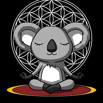 Koala Bear Buddha Yoga Flower Of Life Zen Sacred Geometry by underheaven