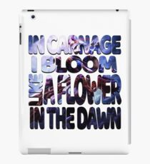 """League Of Legends Jhin Shirt """"In Carnage I Bloom Like A Flower In The Dawn"""" iPad Case/Skin"""