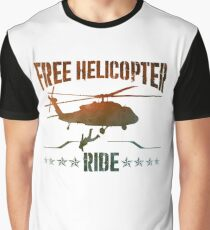 Free Helicopter Ride Graphic T-Shirt