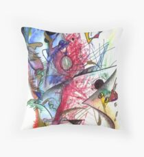 The Trompet Cat Submarine Orchestra Throw Pillow