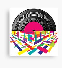 Musical mood on a vinyl record.  Canvas Print