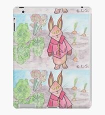 Rabbit in the veg patch  iPad Case/Skin