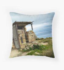 Maltese Hunter's Lodge Throw Pillow