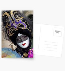 Venice - Carnival  Mask Series 05 Postcards