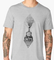 Vintage steam train Men's Premium T-Shirt