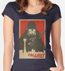 Fallout New Vegas Poster (Fallout NV) Women's Fitted Scoop T-Shirt