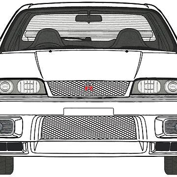 Nissan Skyline R33 GT-R (front) V2.0 von officialgtrch