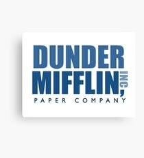 Dunder Mifflin The Office Logo Canvas Print
