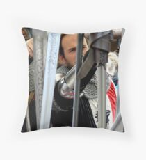 THE SWORD MERCHANT Throw Pillow