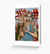 Alice and the March Hare Greeting Card