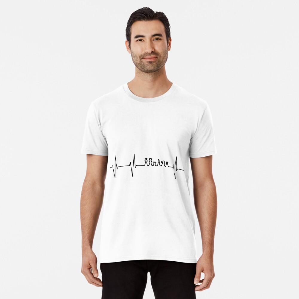 Heartbeat Chess Chess Premium T-Shirt