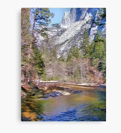 Tanaya Creek ~ Digital Painting Canvas Print
