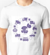 Baby cars, cubes, puppy, gift, balloons. Unisex T-Shirt