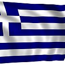 Waving Greece Flag by PRODUCTPICS