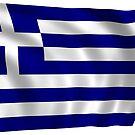 «Ondeando la bandera de Grecia» de PRODUCTPICS