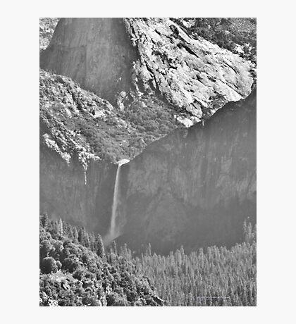 Bridalviel Falls (B&W) Photographic Print