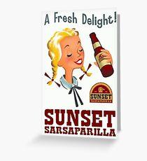 A Fresh Delight! - Sunset Sarsaparilla Poster (Fallout New Vegas) Greeting Card