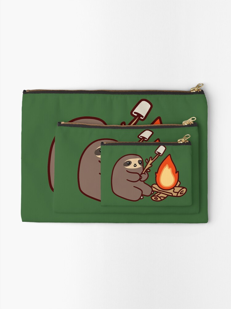 Alternate view of Campfire Sloth Zipper Pouch