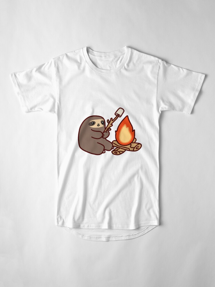 Alternate view of Campfire Sloth Long T-Shirt