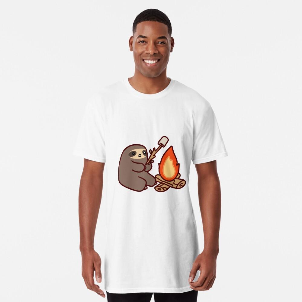Campfire Sloth Long T-Shirt