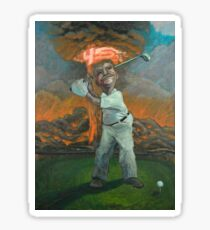 Golfin' with Donny (donald trump foreign policy) Sticker