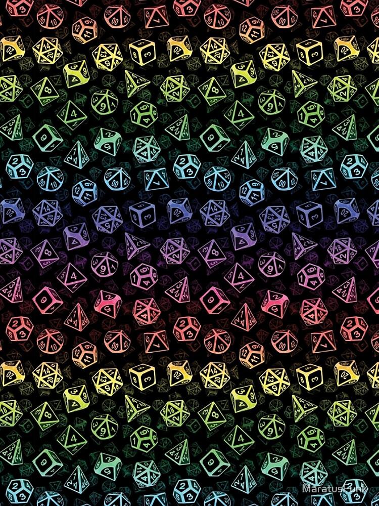 D20 Dice Set Pattern (Rainbow) by MaratusFunk