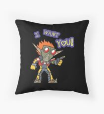 Lil Erol WANTS YOU Throw Pillow