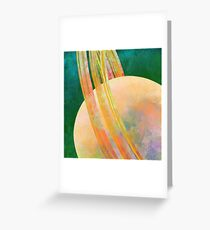 The Rings Of A Planet Greeting Card