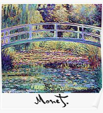 Monet - Japanese Bridge Poster