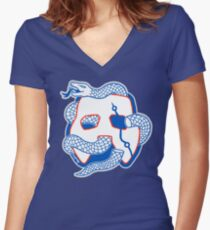 Embiid Mask Unite Women's Fitted V-Neck T-Shirt