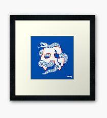 Embiid Mask Unite Framed Print
