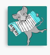 Mouse Playing an Accordion Canvas Print