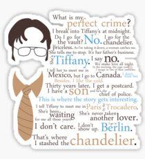 Dwights perfektes Verbrechen Sticker