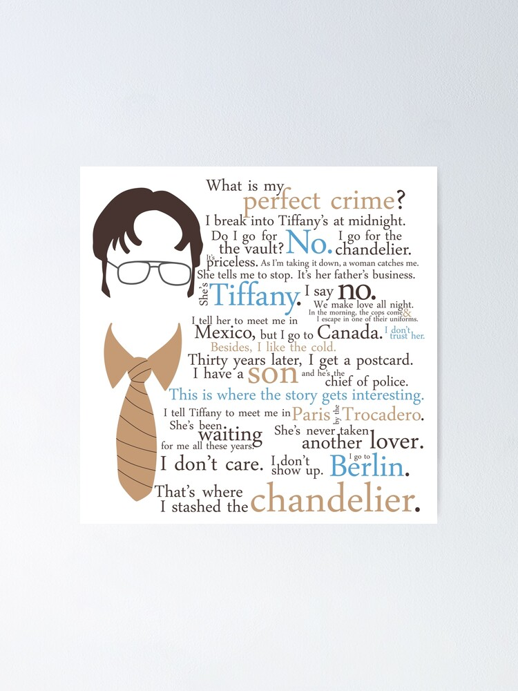 Alternate view of Dwight's Perfect Crime Poster