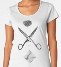 ROCK / SCISSORS / PAPER Women's Premium T-Shirt
