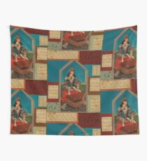 Persian  Musician and Calligraphy  Wall Tapestry