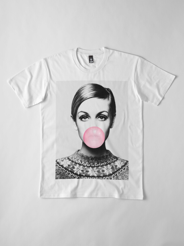 Alternate view of Twiggy print, celebrity, Scandinavian, Nordic, Trendy print, Styled, Scandinavian art, Modern art, Wall art, Print, Minimalistic, Modern Premium T-Shirt
